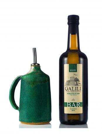מארז בקבוק שמן זית ובקבוק חרס
